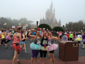 Running the Disney Princess Half Marathon with my sister Tara and friend Jenna!